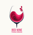 red wine splash in glass paper cut vector image vector image