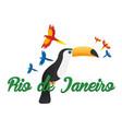 rio de jeaneiro logo travel in brasil south vector image vector image