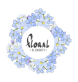 Round frame of fragrant flowers vector image vector image
