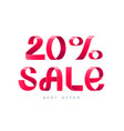 sale 20 percent off vector image vector image