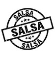 salsa round grunge black stamp vector image vector image