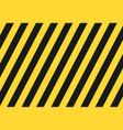 seamless grunge security yellow black diagonal vector image vector image