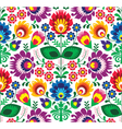 Seamless traditional floral polish pattern vector image vector image