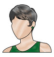 sketch woman face comic hand drawn girl portrait vector image vector image