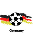soccer ball with germany flag in the background vector image