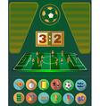 Soccer Match Statistics vector image vector image