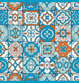 spanish tiles pattern vector image