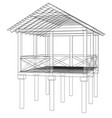 summer house sketch vector image vector image
