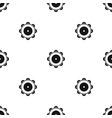 tambourine pattern seamless black vector image vector image