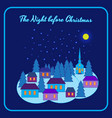 the night before christmas vector image vector image