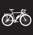 touring bike white vector image
