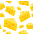 triangular piece cheese texture seamless vector image vector image