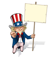 Uncle Sam I Want You Placard vector image