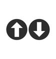 up down arrow icon flat