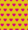 Valentines Day seamless pattern with carved hearts vector image vector image