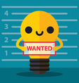 Wanted idea vector image vector image