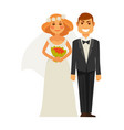 wedding photography picture shot bride and groom vector image