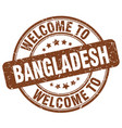 welcome to bangladesh brown round vintage stamp vector image vector image