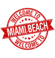 Welcome to Miami Beach red round ribbon stamp