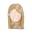 woman cartoon avatar profile picture female vector image vector image