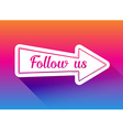 Follow us icon vector image