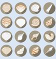 Sea Shell Flat Icons Set vector image