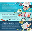 Set of banners on business planning and training vector image