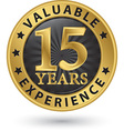 15 years valuable experience gold label