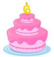 a birthday cake vector image vector image