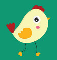 a little rooster or color vector image vector image