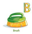 alphabet letter b brush