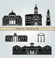 athens ga landmarks vector image