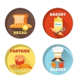 Bakery decorative icons vector image