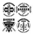 barbershop and hairdressing set emblems vector image vector image