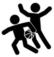 basketball defense icon vector image