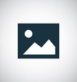 blank photo icon vector image