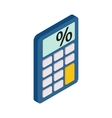 Calculator icon isometric 3d style vector image vector image
