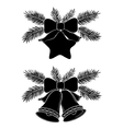 christmas bells and star vector image