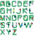 christmas tree font vector image vector image