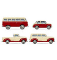 classic cars set vector image vector image