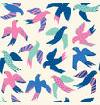colorful flying birds abstract papercut style vector image vector image