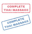 complete thai massage textile stamps vector image