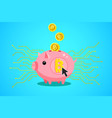 concept crypto currency piggy bank vector image