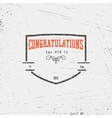 Congratulation badges cards and labels for any use vector image vector image