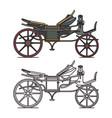 electric xix century carriage or retro automobile vector image vector image