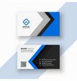 elegant professional blue business card design vector image vector image