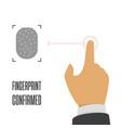fingerprint icon vector image vector image
