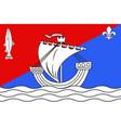 flag of boulogne-billancourt in hauts-de-seine vector image