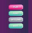 game user interface in cartoon style vector image vector image