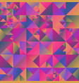 geometrical abstract multicolored triangle vector image vector image